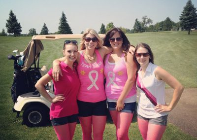 Young Ladies in pink at Fore for Shan