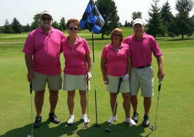 4 golfers at Fore for Shan 2014