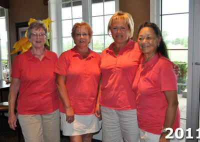 Four lady golfers at Fore For Shan 2011