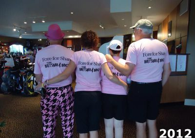 Team Mitsma & Mice golf shirts at Fore For Shan 2012