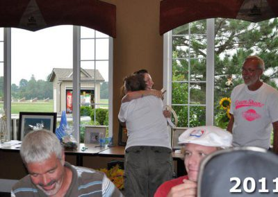 Lorna Larsen hugs at Fore For Shan 2011