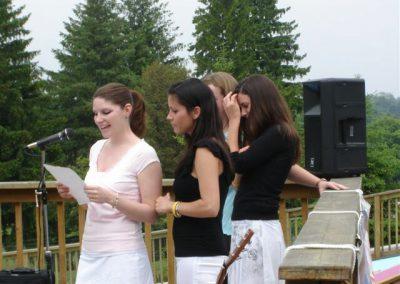 Girls speaking at Shan's Celebration of Life