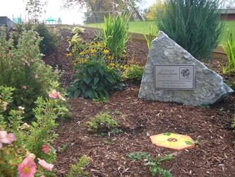 Haileybury garden plaque