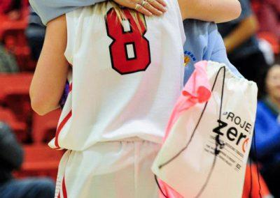 SAIT Trojans 2012 - Lorna Larsen hugs a player