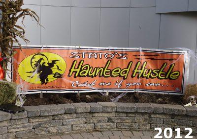 Stato's Haunted Hustle - 2012 1/2 Marathon Walk / Run Event Sign