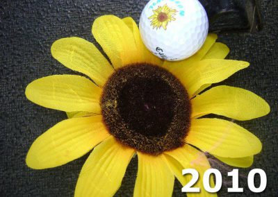 Sunflower with Team Shan Golf Ball