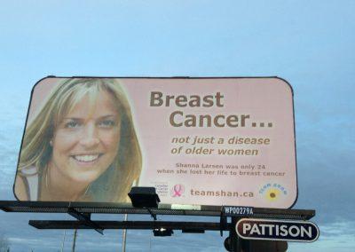 Team Shan billboard sign in Winnipeg