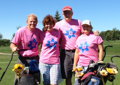 Four Golfers at Fore for Shan