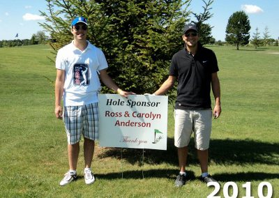 Hole Sponsor Sign at Fore For Shan 2010
