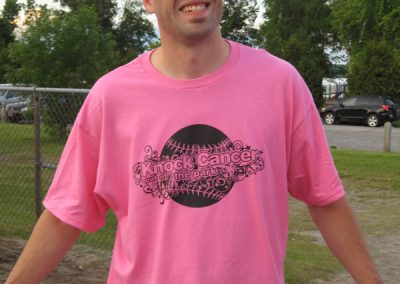 Player in Knock Cancer Out of the Park shirt - KCOOTP 2008