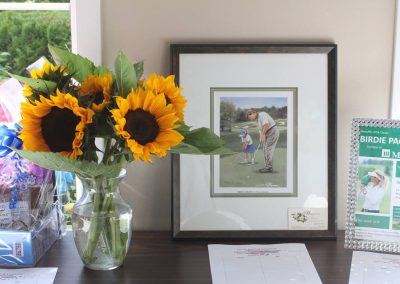Sunflowers on Auction Table at Fore for Shan 2015