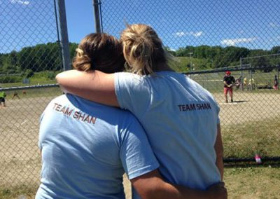 Team Shan t-shirts Knock Cancer out of the Park