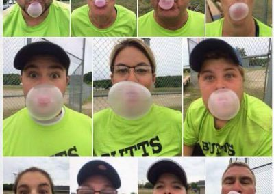 Knock Cancer Out of the park - blowing bubbles