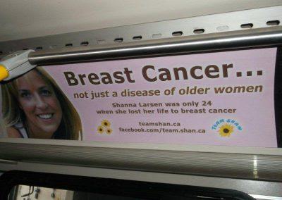 Team Shan ad inside UBC bus