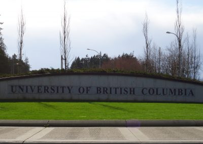 University of British Columbia (UBC) campus sign